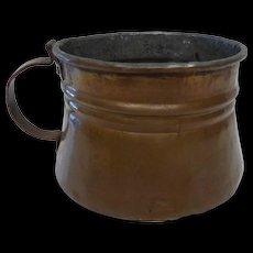 Vintage Hand Wrought Copper Tankard Mug Dovetailed
