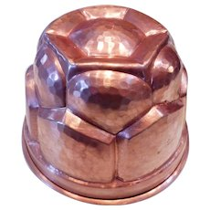 Vintage Hammered Copper Mold Italy