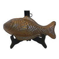 Vintage Copper Lined Fish Mold
