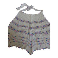 Vintage Crochet Hostess Party Apron