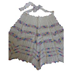 Vintage Crochet Hostess Party Apron