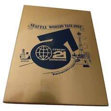 1962 Seattle World's Fair Metal Keepsake Photo Box