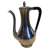 Vintage Mid-Century Royal Holland Pewter Coffee Tea Carafe K.M.D. TIEL