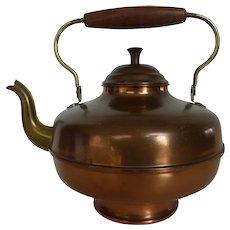 Vintage Dutch Copper Goose Neck Water or Tea Kettle Pot Made in Holland