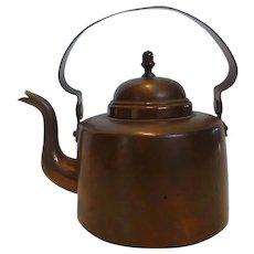 Vintage O.H. LAGERSTEDT Copper Tea pot Kettle Made in Sweden