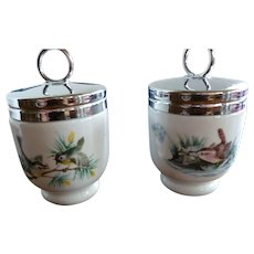 P134 Royal Worcester Egg Coddlers 'Birds' Standard Size in Box