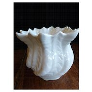 Vintage Irish Belleek Swirling Shell Vase  4th/1st Green Mark