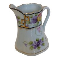Vintage Hand Painted Porcelain Creamer Pitcher