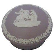 Wedgwood Lilac Jasperware Jewelry Trinket Box