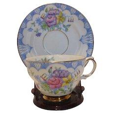 Rosina Hand Painted English Bone China Cup Saucer