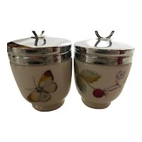 Royal Worcester 'Strawberry Fair' Egg Coddlers Standard Size Pair