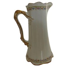AntiqueTheodore Haviland Limoges France 'Brittany' Tall Pitcher 8.5""