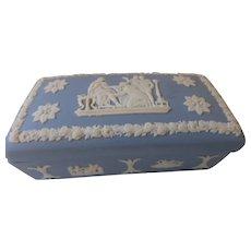 Vintage Wedgwood Jasperware Trinket Box