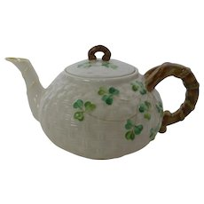 Belleek Shamrock Teapot 3rd Black Mark 1926 – 46