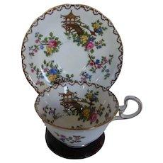 Aynsley 'Pagoda' Footed Cup & Saucer Set