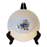 Mabel Lucie Attwell for Royal Albert Bone China Child's Fairy Folk Pattern Bowl England