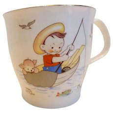 Mabel Lucie Attwell for Royal Albert Bone China Child's 'Fisherman Joe' Cup England