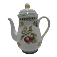 Villeroy & Boch Large Coffee Pot & Lid French Garden Fleurence Pattern Germany