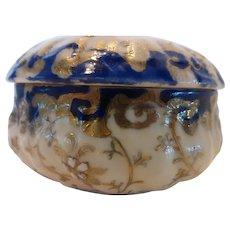 Antique Limoges Porcelain Rococo Revival Powder Trinket Jewelry Box