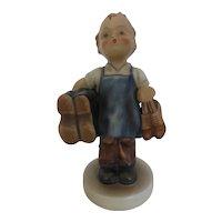 Hummel 'Boots' Cobbler Boy in Blue Apron #143/0 Germany 1950's MINT