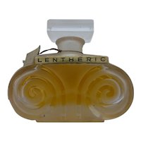 Vintage Perfume Factice or Dummy Lentheric Miracle Perfume Parfum Verreries Brosse Bottle
