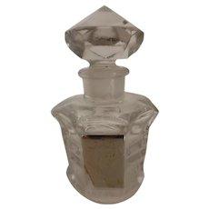 Vintage Marquay L'ELU Crystal Perfume Bottle Ground Stopper Paris France