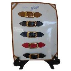 Vintage LaVogue Salesman Sample Card Belts & Buckles