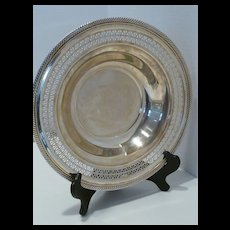 Vintage Wm Rogers 835 Reticulated Silverplate Bowl