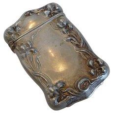 Silveroin Art Nouveau Match Safe /Vesta Case Bristol Mfg.