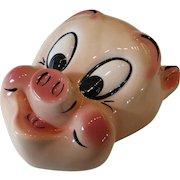 Vintage Ceramic Porky Pig Wall Mask Plaque Warner Bros