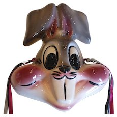 Vintage Ceramic Bug Bunny Wall Mask Plaque Warner Bros