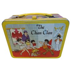 1973 Chan Clan Metal Lunchbox w/ Plastic Thermos