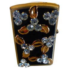 1950s Enamel & Rhinestone Lighter