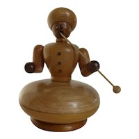 Vintage Wood Incense Smoker Man Germany