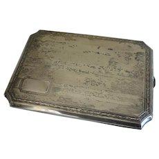 Antique Silver Plate Gilt Lined Cigarette Case
