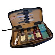 Vintage CUTEX Nail Manicure Travel Set in Leather Case