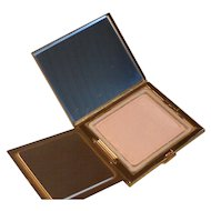 Vintage Elgin American Gold Tone Powder Compact