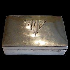 Rare Fred Davis Sterling Silver Pill Box