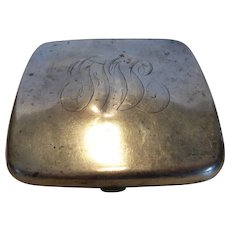 Antique Sterling Silver Gilt Lined Cigarette Case