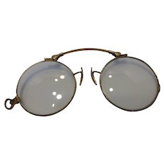 Antique14k Gold Pince Nez (Nose Pinch) Glasses Pat 1917