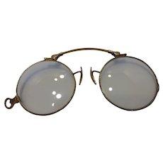 Antique14k Gold Pince Nez (Nose Pinch) Glasses Pat 1917