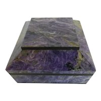 Charoite Stone Jewelry Box Keepsake Box