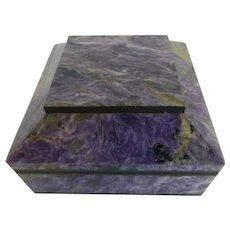 Charoite Stone Jewelry Box Keepsake Box