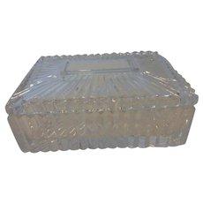 Vintage Lead Crystal Trinket Vanity Box