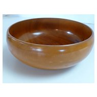 Antique Wood Thin Wall Hand Turned Bowl