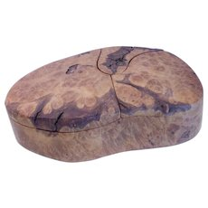 Vintage Hand Crafted Burl Wood Box