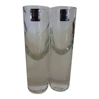 Krosno Cordials Shot Glasses, 2 oz. Silhouette Glass Poland Pair