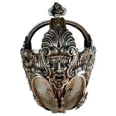 Spanish Revival/ Mayan Revival Rare Figural Silverplated Fixture