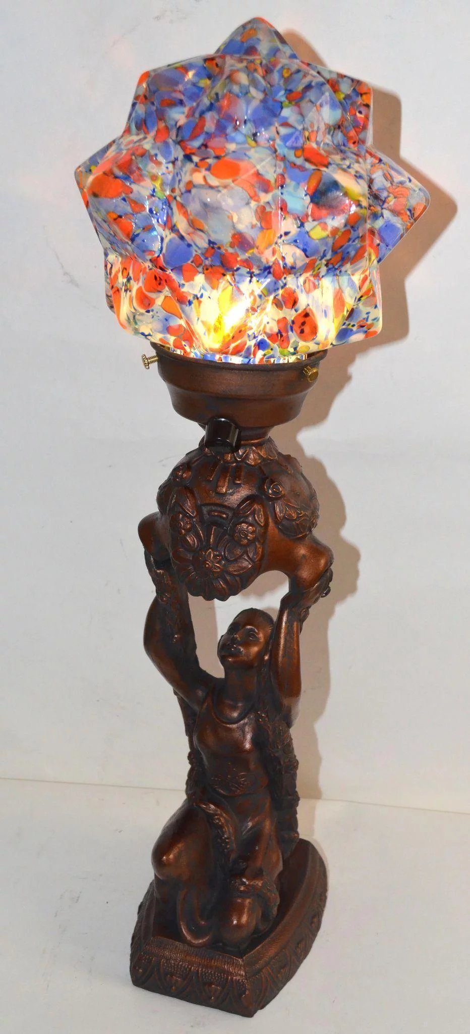 Art Deco Figural Lamp : Vintage Lamps and Lighting   Ruby Lane