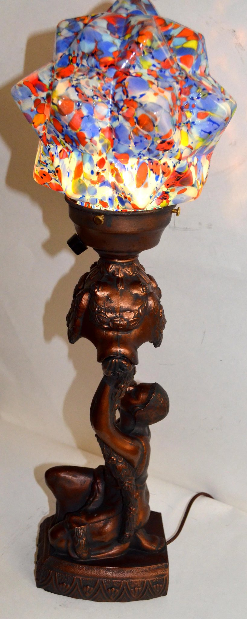 Art Deco Figural Lamp Vintage Lamps And Lighting Ruby Lane